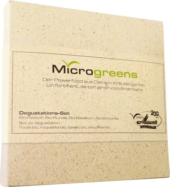 Microgreens Degustations-Set mit 4 Sorten