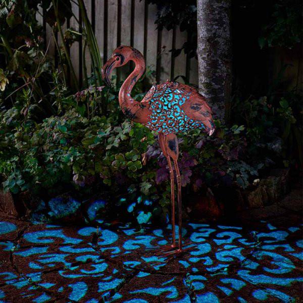 Solar-Silhouette Lampe Flamingo