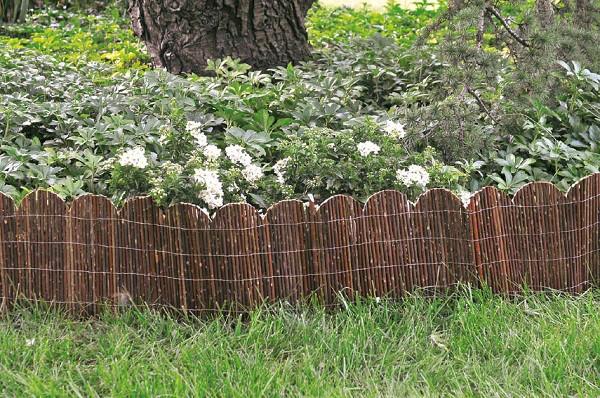Zierkante aus Weidenholz, Bögen