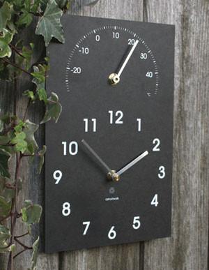 Uhr und Thermometer