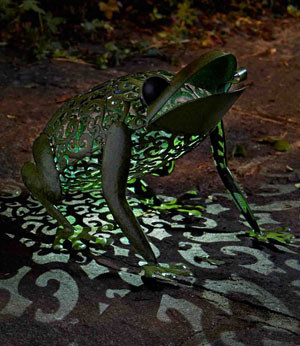 Solar Silhouette-Leuchte Frosch