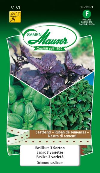 Basilic 3 variétés