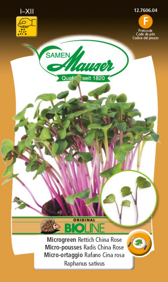 BIO-Microgreen Rettich China Rose
