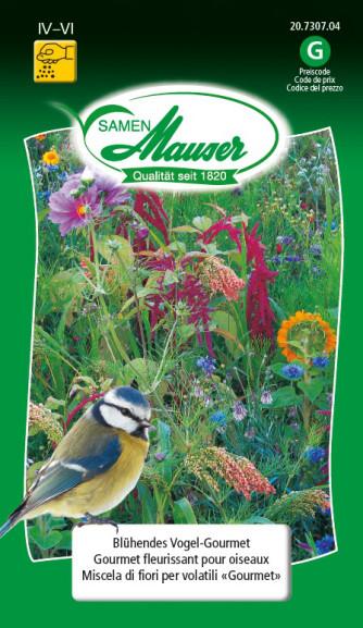 Blühendes Vogel-Gourmet