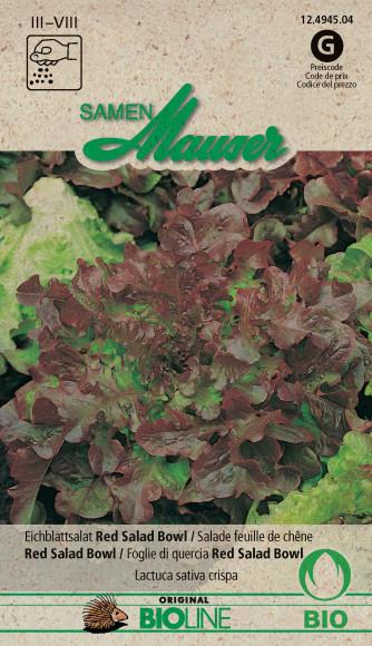 Knospe Bio Eichblattsalat Red Salad Bowl