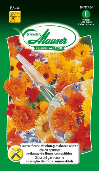 Gourmetfreude Mischung essbarer Blüten