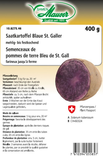 Pomme de terre 'Bleue de Saint Gall' 400 g