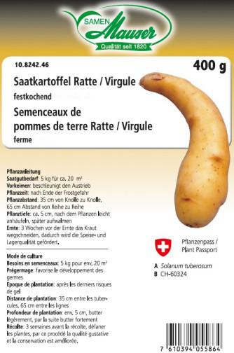 Semenceaux de pommes de terre 'Ratte' / 'Virgule' 400 g
