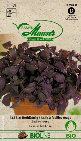 Bourgéon BIO Basil à feuilles rouges