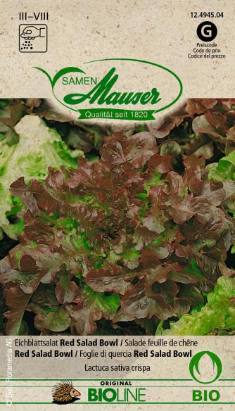 Bourgéon BIO Salade feuille de chêne Red Salad Bowl
