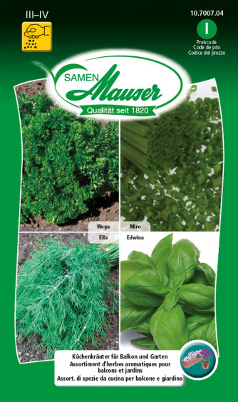 Assortiment d'herbes aromatiques pour balcons et jardins