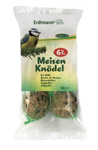 Vogelfutter Meisenknödel für Vögel, 6 Knödel mit Netz