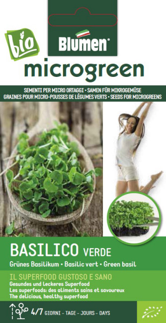 BIO Microgreen Basilikum grün 20g