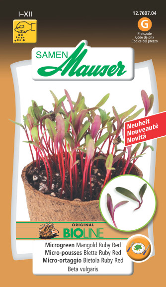 BIO-Microgreen Mangold Ruby Red