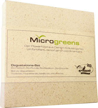 Microgreens set de dégustation avec 4 espèces