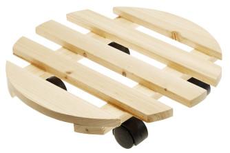 Rolluntersetzer aus Holz