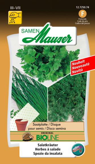 Saatmatte Salatkräuter BIO