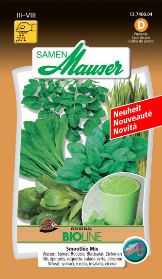 Smoothie Mix Weizen, Spinat, Ruccola, Blattsalat, Zichorien