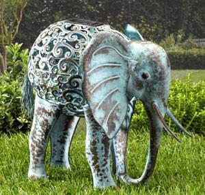 Solar-Silhouette Lampe 'Elefant'