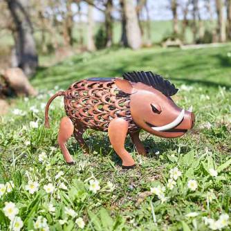 Solar-Silhouette Lampe Warzenschwein
