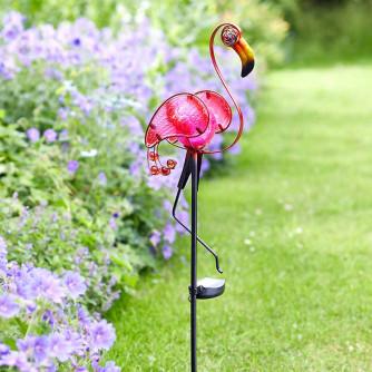 Solar Steckleuchte Flamingo