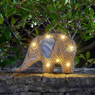 Solarleuchte Woodstone Inlit Elefant