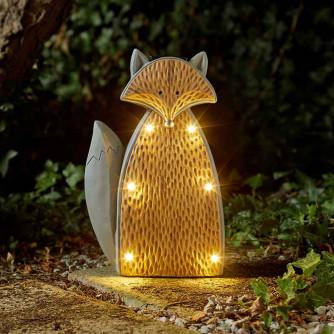 Solarleuchte Woodstone Inlit Fuchs