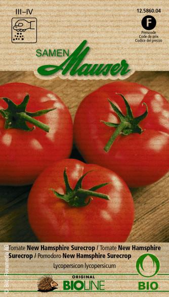 Knospe Bio Tomate New Hamsphire Surecrop