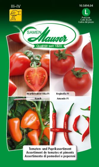 Tomaten- und Paprikasortiment