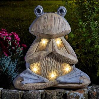 Solarleuchte Woodstone Inlit Frosch