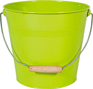 Seau en zinc vert clair