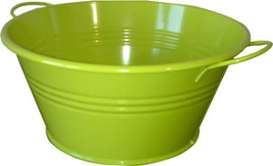 Zink-Wanne gelbgrün